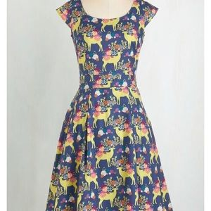 Prancing reindeer dress from ModCloth